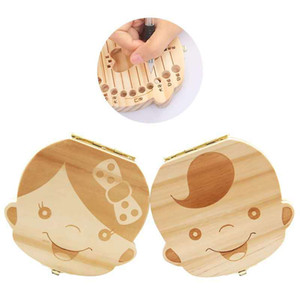 Children's deciduous toothbox, tooth collection and storage box, fetal hair collection box, solid wood tooth replacement Memorial box