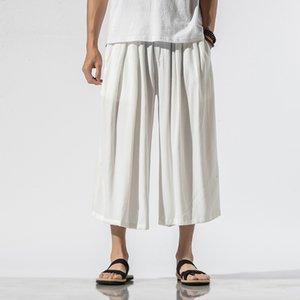 Hommes d'été légère Pantalon Casual en vrac mince confortable Masculin Chine style Streetwear jambe large Pantalon droit