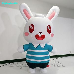 2,5 m adorable movible conejo rojo chica usable inflable conejo pequeño conejito lindo inflación