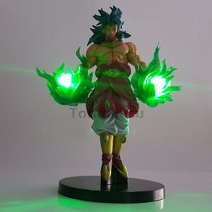 Dragon Ball Z Figuras de Ação Brinquedos Broly Green Power Anime Dragon Ball Super Broly Luzes Led Modelo Toy Esferas Del Dragão MX191105