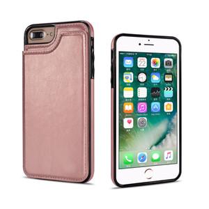 Кошелек кожаный чехол с картами денежные слоты тонкий многофункциональный фолио ID окна противоударный крышка TPU для iPhonex XS XR XS MAX 7 8 6 6S PLUS
