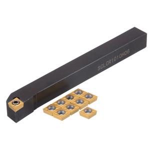 Практичный токарный инструмент для токарной обработки 1шт SCLCR1010H06 Расточная оправка + 10шт. Вставки CCMT0602 + гаечный ключ на 1шт.