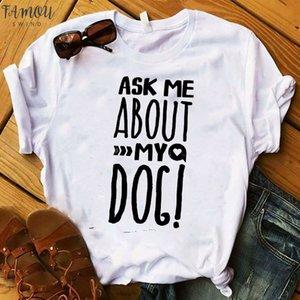Fashion Women T Graphic Top Tshirt Love Dog Leopard Summer Cute Letters Female Tee Shirt Femme Ladies Clothes T Shirt