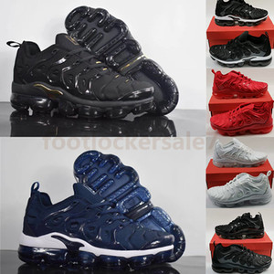 Size 13 Vapourmax Black Sneakers Tn Plus Royal Blue Tripler White Noble Red USA Burgundy Gym Red Breathable Running Shoes Trainers 36-47