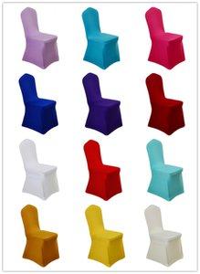 Spandex de la silla del estiramiento cubre la cubierta del asiento elástico lavable Silla de tela para Comedor bodas banquete del partido del hotel Decoración (10pcs / pack)
