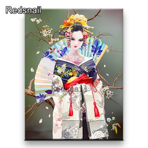 5d embroidery Japanese Diy diamond painting Japanese kimono woman Full diamant mosaic stitchcross rhinestone home decor TT275