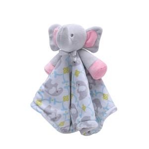 Dos desenhos animados do bebê suave Plush chocalhos Brinquedos Elephant Puppet Brinquedos gavetas Toalha Para Kid Appease sono Soothe Plush Dolls 3 cores DHL