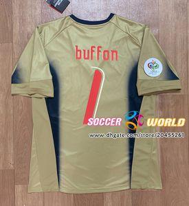 Retro Italia de fútbol Jersey 2006 camisetas de portero Italia 06 Italia 1 # Buffon fútbol camisas tamaño S-XXL