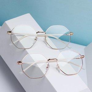 컴퓨터 고글 게임 안경 광학 안경 프레임을 차단 새 단순 남여 금속 안경 안티 - 방사선 블루 라이트
