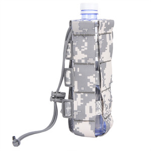 high quality Tactical Molle Water Bottle Pouch Nylon Military Canteen Cover Holster Outdoor Travel Kettle Bag