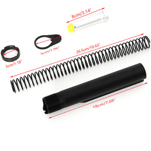 Tactical AR15 Latch Mil-spec 6 Position Buffer Extension Tube Rod Assembly / Kit 5 Artikel Combo Zylinderstangenkopf Tellerfedermutter