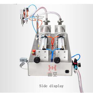 pedal 10W Foot neumático salsa de soja de la máquina de llenado de líquido vinagre perfume máquina de llenado de doble cabeza líquido cuantitativa