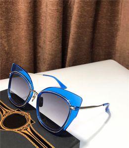 Novos óculos de sol de luxo mulheres projetar óculos de sol do vintage M2 fshion estilo popular gato grande do olho quadro UV 400 lente exterior eyewear
