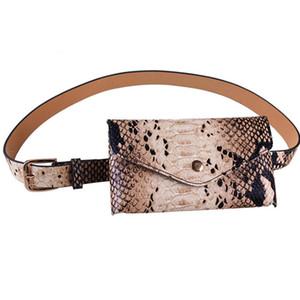 Fashion Women's PU Leather snake pattern belt Waist Bag snakeskin print Removable Belt Fanny Packs phone pouch bag