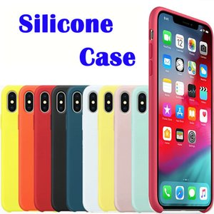 Original oem quality Silicone Case For iPhone 11 Pro Max 7 8 Plus Phone Case For iphone XS X 6S Plus With Package