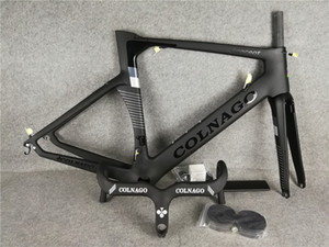 black Colnago handlebar + Black Colnago Carbon Road bike Frame full carbon fiber bicycle frame BB386 2021