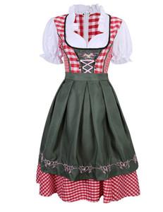 2 pc / ensemble traditionnel Dirndl Allemand Bavarois Bière Fille Costume Oktoberfest Festival Fantaisie Robe