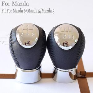 Novo tipo 5 6 Speed Car Couro Acessórios manual de mudança de marcha da vara Shifter Lever Knob cabeça para Mazda 6 / Mazda 5 / Mazda 3