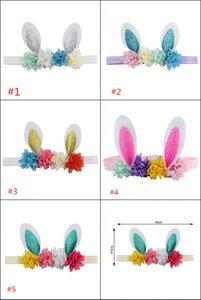 orelhas de coelho headband da flor cabeça das crianças Páscoa Europa e os Estados Unidos bebê cabelo acessórios hairband vestido festivo