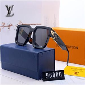 mit Box Luxus-MILLIONäR 96006 Sonnenbrille Voll Rahmen Vintage Designer-Sonnenbrillen für Männer glänzenden Louis Vuitton Verkauf plattierten Top Sonnenbrille
