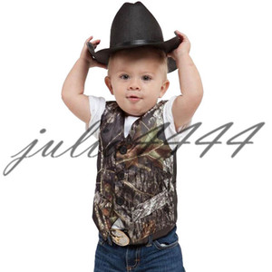 2019 V Neck Camo Boy's Formal Wear Camouage Real Tree Wedding Vest Cheap Sale Vest For Wedding Kids Formal Wear