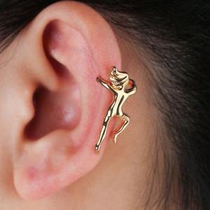 Basit Kulak Tırmanıcı Küpe Tırmanma Villainous Kulak Vintage Küpe Kadın Erkek Kemik Klasör Yok Deldi Kulak Klip