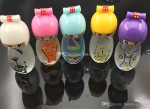 9cm mini-verre Belle lampe à alcool poupée pour les accessoires de narguilé livraison gratuite de plate-forme pétrolière d'eau