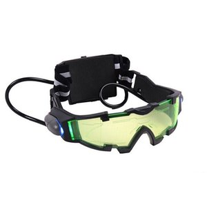 Night Vision Goggles Green Tinted Lens LED Lights for Outdoor Game Prop Gift@88