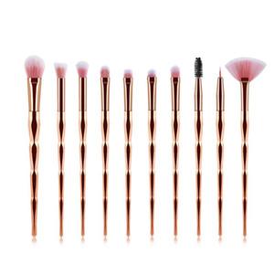 Kit de herramienta de pincel de maquillaje de ojos profesional 10pcs cepillo del sistema de sombras de arco iris de la ceja Line Corrector de alimentación de belleza cosmética
