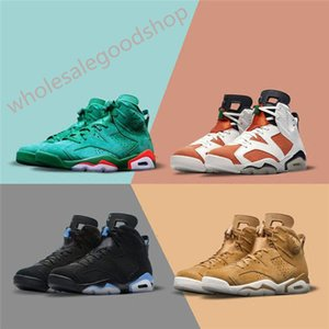 2020 xshfbcl 6 NRG G8RD Gatorade Green Suede UNC Wheat Basketball Shoes For Men Authentic Sports Trainer Sneaker 2018 Limited Release