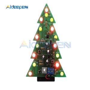 DIY 키트 크리스마스 트리 LED 회로 전자 PCB 보드 모듈 레드 그린 플래시 빛 전자 정장 휴일 장식