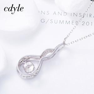 Fashion-Beating Cuore Silver Jewelry 925 Dacing Pietra collare gioielli Mujer Collana Top Class delle donne delle ragazze di cristallo