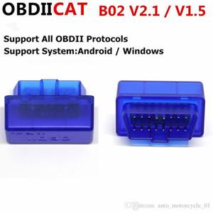100pcs / lot DHL Super Mini Bluetooth ELM327 OBD2 V2.1 OBD 2 auto interfaccia diagnostica Scanner OBDII Auto Adapter Diagnostic Tool