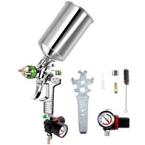 Пистолет-распылитель HVLP 2.5 MM Paint Gun с чашкой 1000cc, комплект для обслуживания воздушного регулятора для всех Автокрас, грунтовки, верхнего покрытия