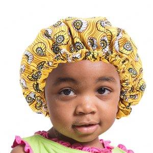Africaine Imprimer Bonnet New Fashion Stain Silky Big Bonnet pour les enfants Les enfants de sommeil Cap Headwrap Hat Accessoires cheveux Wrap
