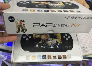 PAP Gameta II 16GB Depolama Avuç İçi Oyun Konsolları Taşınabilir 64 Bit Mini Video Oyunları Oyuncular Destek TV Çıkışı MP3 MP4 Camere PXP3 Sup Yükseltme