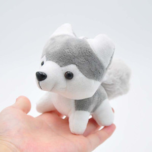 1pcs Boutique 9cm Xiangzhi Boy Little Husky Boy Toy Hanging Plate Plush Keychains toys Girls Bag Car buckle