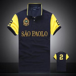 tamaño de gran tamaño al por mayor de Poloshirt EE.UU. bandera americana Marca Polo bordado hombres diseñador de la marca Polo camiseta ocasional de EE.UU.