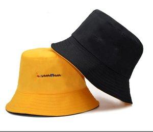 Tapas de pesca al por mayor campeón diseñador de moda del sombrero del cubo Para mujer para hombre plegables Negro Pescador Playa parasol plegable hombre Cap Bowler