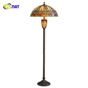 Fumat 거실 소파 커피 테이블 연구 침실에 대한 빈티지 플로어 램프 유럽 스타일의 LED가 빛을 주도 램프 손수 공예
