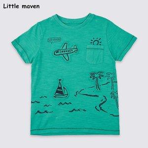 Kleine Kinder Kleidung 2019 Sommer-Babykleidung Kurzarm T-Shirt Reise Druck Baumwolle Marke T-Shirt Spitzen maven