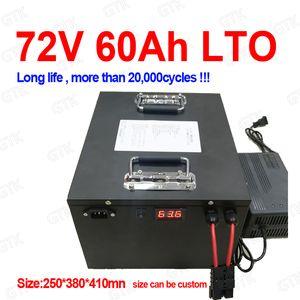 Litio titanato di batteria 72V 60AH con BMS LTO per 5000W 8000W del motorino della bici della bicicletta carrello elevatore moto kart + caricabatteria 10A