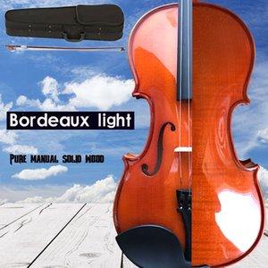 Massivholz-Violine 4/4 3/4 1/4 1/8 Craft Streifen Violino für Anfänger Kinder, Schüler Fall Mute Bow String