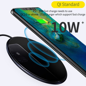 10W rapide de charge Chargeur sans fil rapide Pad pour iPhone 11 Pro Max Samsung Galaxy note10 S10 S20 Ultra Upgrade Intelligent Power Off