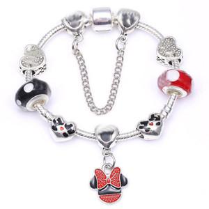 16-21CM bricolage bijoux 925 femmes argent fille bracelet bracelets perles pour enfants charmes cadeaux Accessoires avec boîte