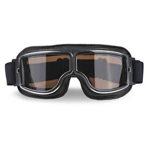 Universal-Weinlese-Motorrad-Schutzbrille Pilot Flieger-Motorrad-Roller Biker Brille Helm Brille faltbare Für Harley