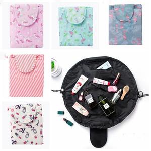 Makeup Bags Organizer Drawstring Cosmetic Bag Lazy Animal Flamingo Travel Make Up Pouch Storage Wash Bag Toiletry Kit Case Gift CZYQ4759