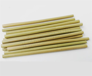 New bamboo straw 23cm reusable drinking straw eco-friendly beverages straws cleaner brush bar drinking straws tools party supplies 4935