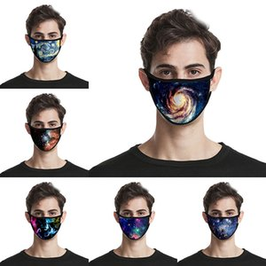 Starry sky 3D printed wind and dust respirator designer face mask cross-border breathable face masks free shipping