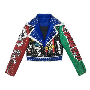 여성 w318 여성 가짜 가죽 자켓 자전거 락 펑크 스타일 짧게 자른 재킷 스트리트 Motorcyle PU 코트 및 재킷